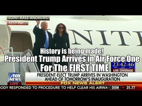 President Trump Arrives in Air Force One For The FIRST TIME in Washington. History is being made!