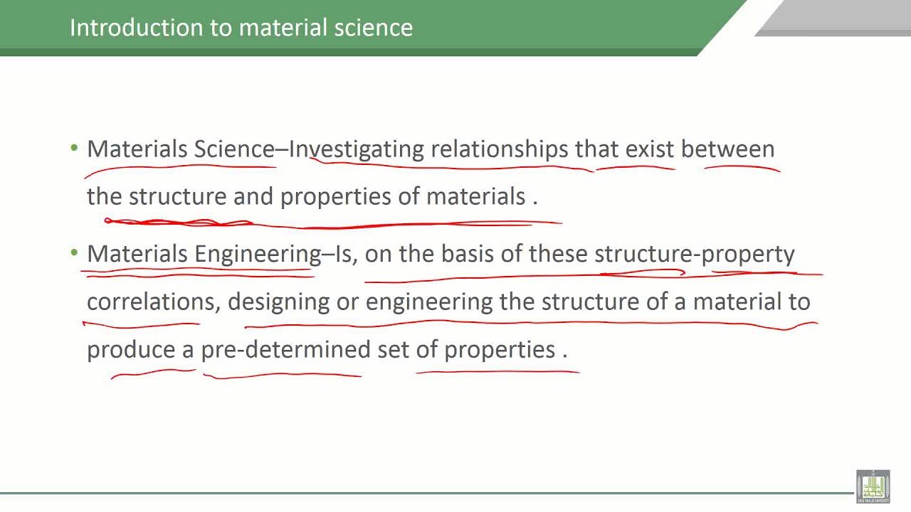 definition science material engineering materials