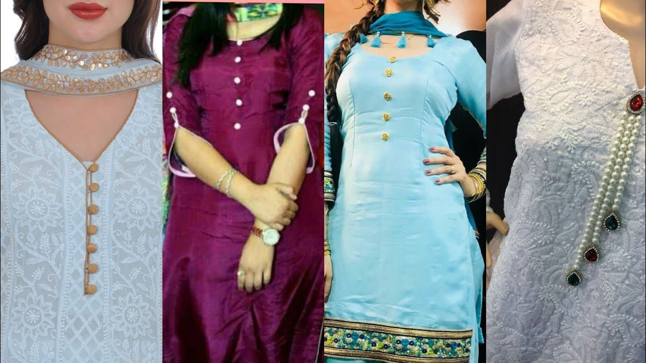 Top 40 New Beautiful Buttons Neck Design For Kurti Different Types Buttons Neck Design 2019 Youtube
