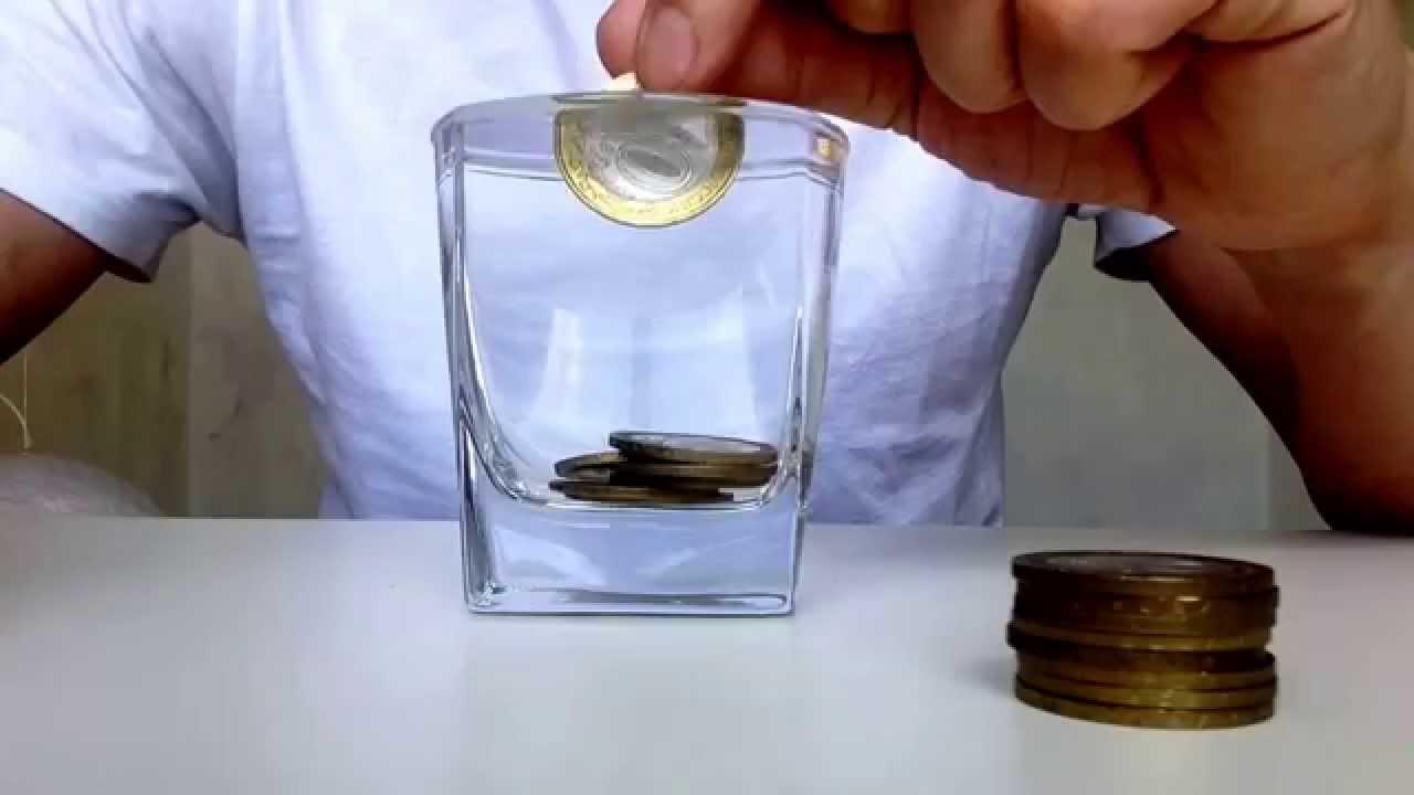 Коллективу февраля, почему открытка отлетает а монета падает в стакан