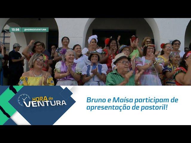 Hoje é Dia do Folclore: Bruno e Maísa participam de apresentação de pastoril! - Bloco 01