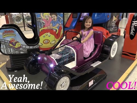 Indoor Amusement Arcade Kiddie Car Ride w/ Maya and Marxlen - Summer 2015