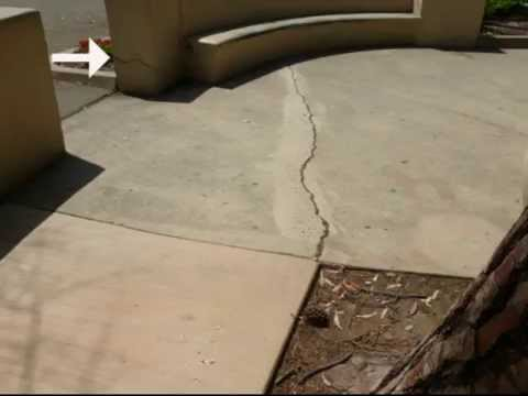 Walkway control joint tips concrete sidewalk crack for Concrete advice