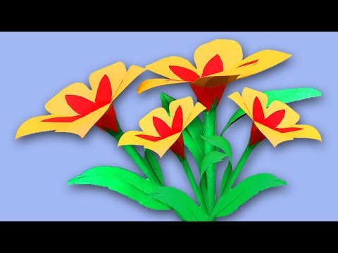 How to Make Easy Paper Flowers Decorations DIY | Flower Making With Paper