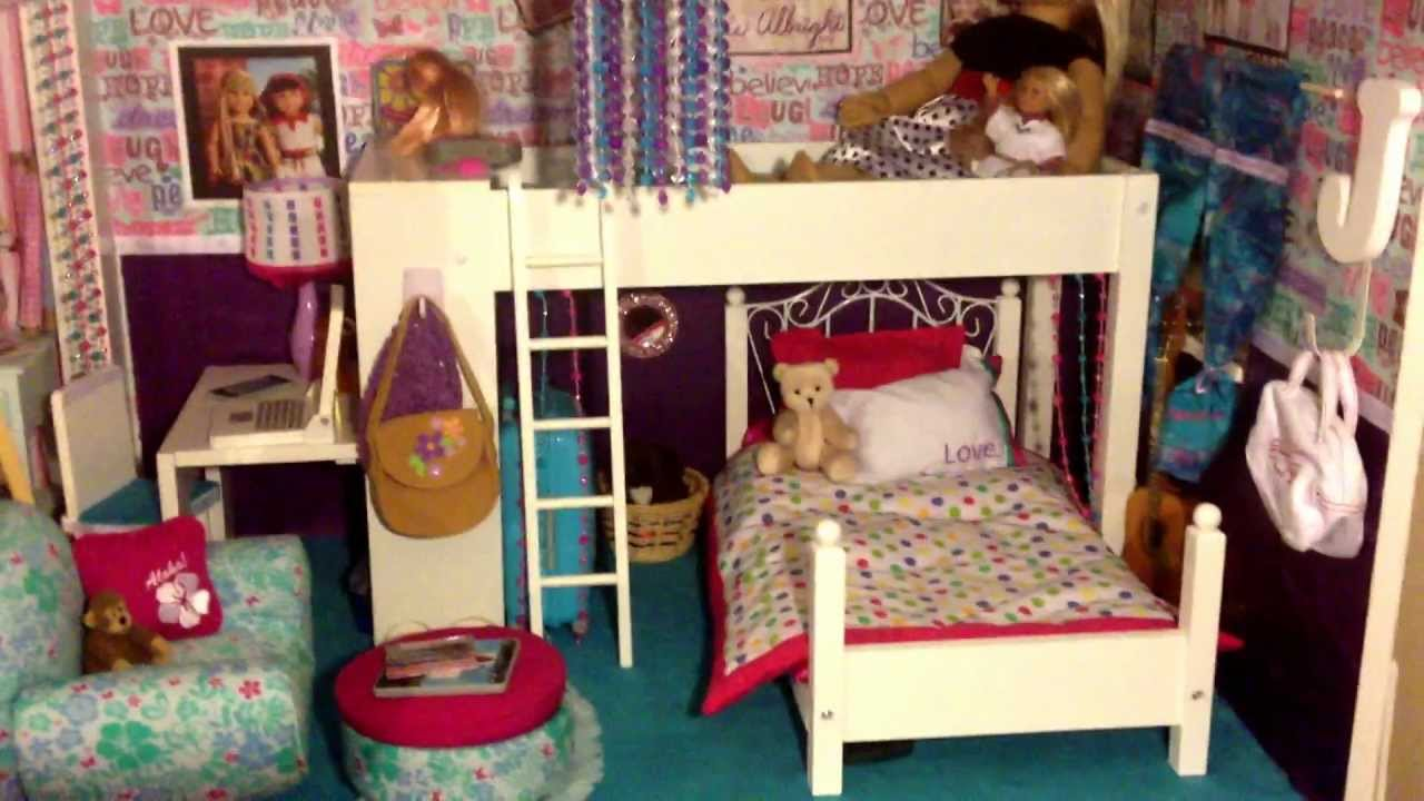 american girl doll house tour youtube - How To Make A American Girl Room