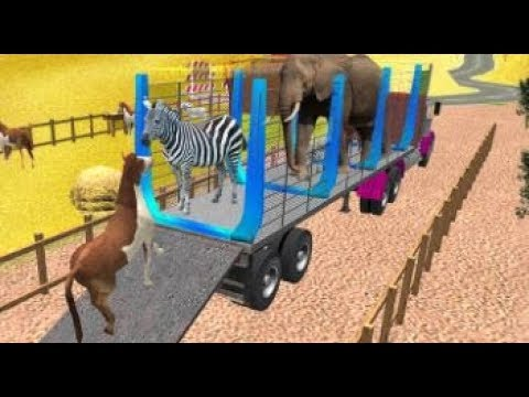 Zoo Animal Transport: Heavy Duty Truck Driving Android gameplay