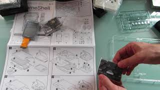 GameShell modular DIY handheld game console: unboxing, assembly, and first look