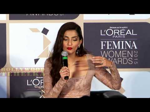 L'Oreal Paris Femina World Awards 2015 With Sonam Kapoor 2