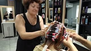 Прикорневая завивка волос.