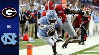 North carolina vs. georgia: the #22 tar heels went toe-to-toe with #18 bulldogs, but would fall 33-24. unc rb t.j. logan totaled 253 all-purpose yards an...