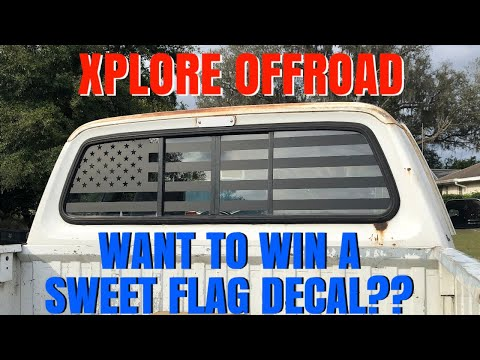 American Flag Rear Window Decal Install/Review (Xplore Offroad)