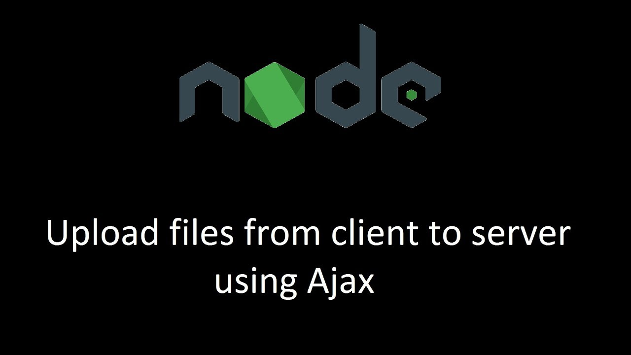 How to upload files to server from client using AJAX (axios)