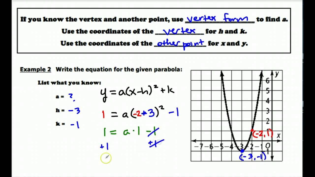 Writing quad eqs in vertex form youtube writing quad eqs in vertex form falaconquin