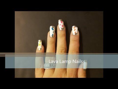 Lava Lamp Nail Art