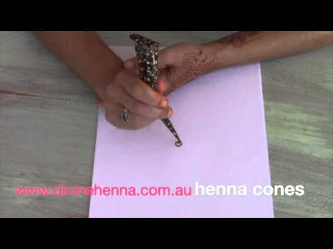 How To Use Henna Cones Youtube