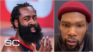 Kevin Durant says he doesn't think about James Harden 'at all' | SportsCenter
