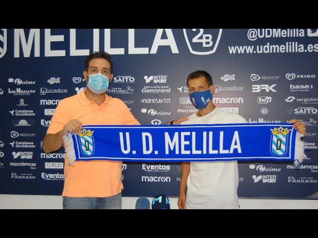 Presentación oficial de Nando Queasada como jugador de la U D Melilla