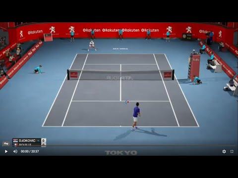 Novak Djokovic vs Lucas Pouille - Tokyo 2019 AO Tennis PS4