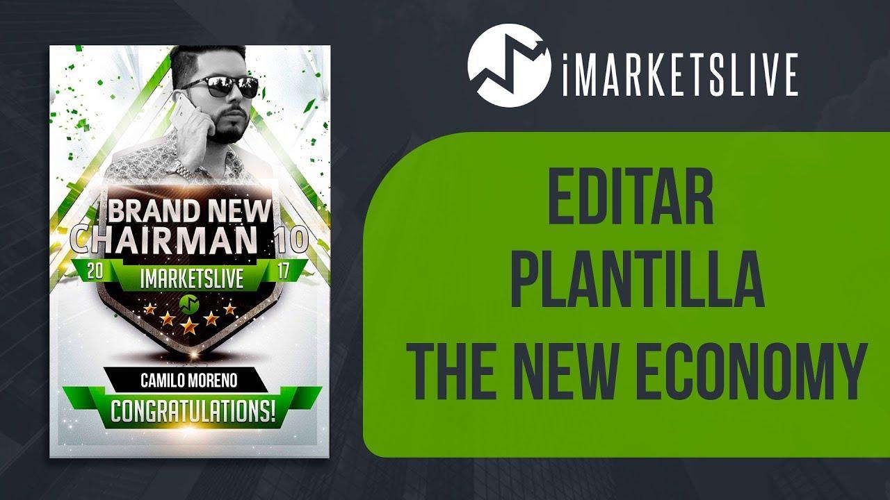 COMO EDITAR PLANTILLA DE BIENVENIDA O DE RANGO (THE NEW ECONOMY ...
