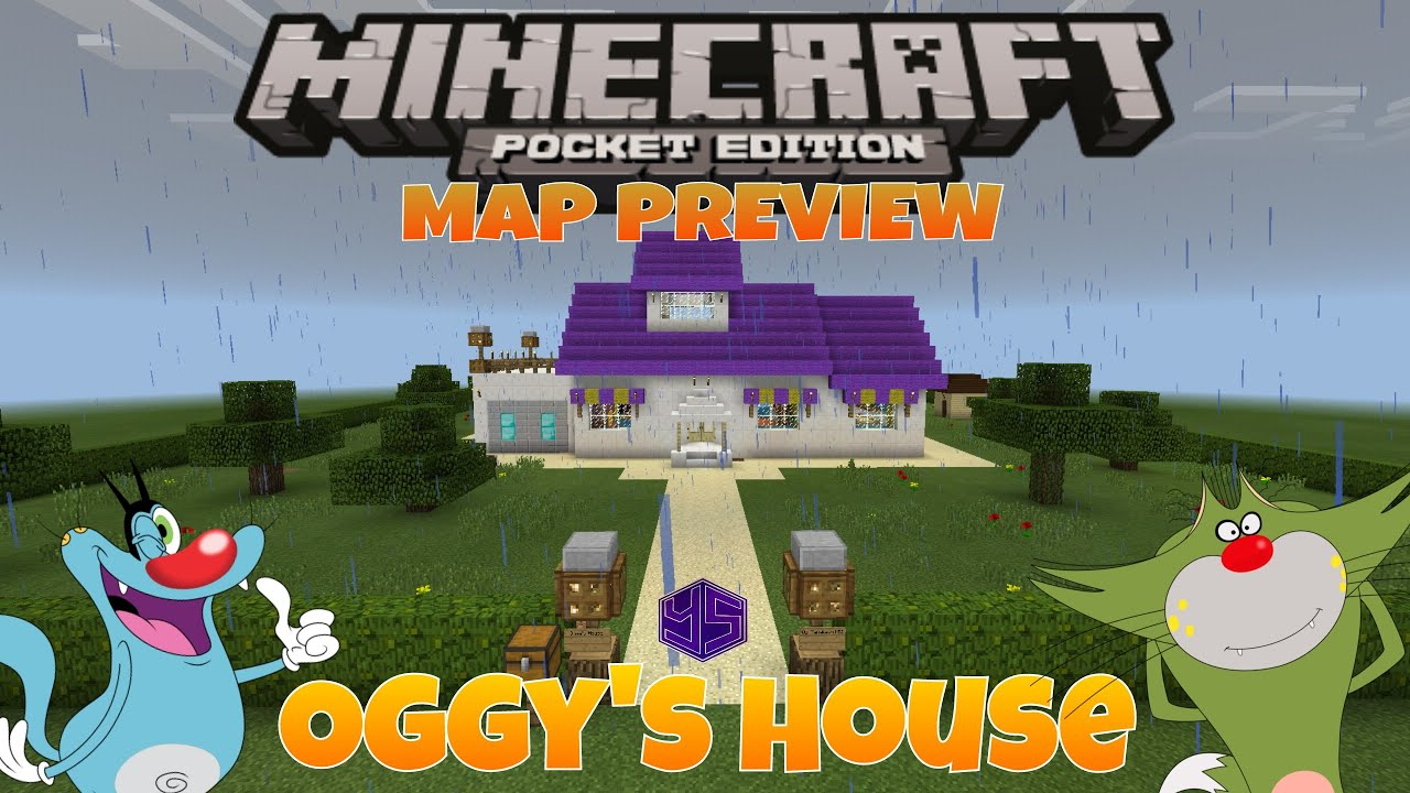 Minecraft PE Map: Oggy's House Preview