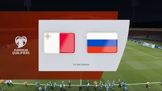 Buy me a coffee: https://ko-fi.com/corocus2022 fifa world cup uefa qualifier matchday 1 group hmalta vs russiatime for #wcq!#mltrus simulated in #pes2021enjo...