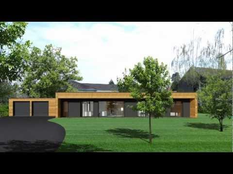 Montage en une journ e d 39 une maison ossature for Maison ossature bois contemporaine prix