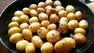Очень вкусная молодая картошка приготовленная в духовке.