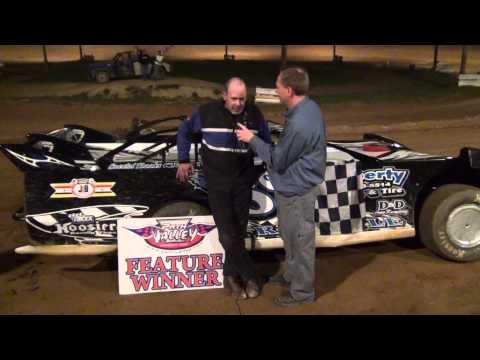 Andy Fries in Victory Lane at Path Valley