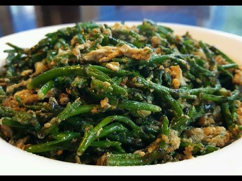 Sea Beans (*sea asparagus*) with Eggs