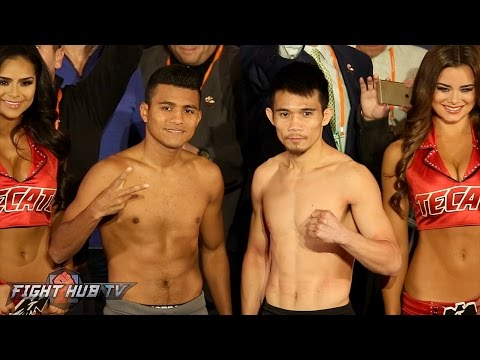 The FULL Roman Gonzalez vs. Srisaket Sor Rungvisai weigh in & face off video