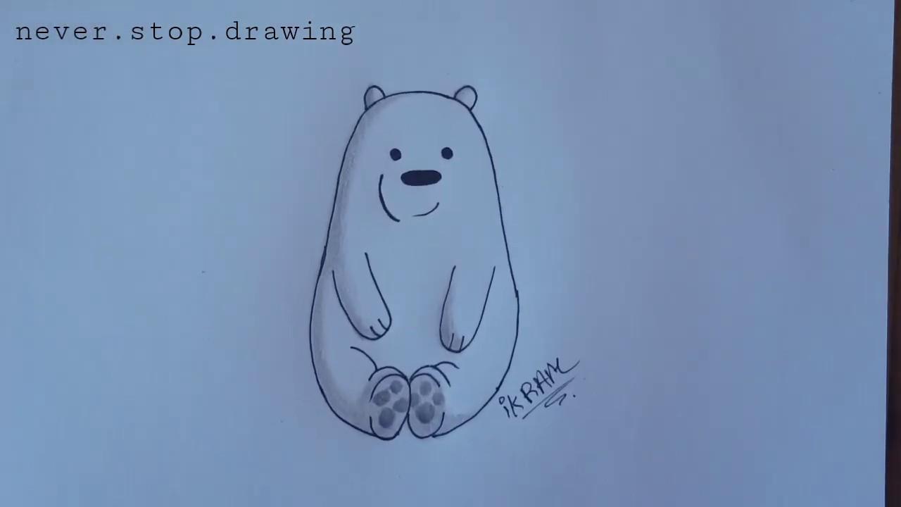How To Draw Ice Bear We Bare Bears Step By Step Tutorial L الدببة الثلاثة رسم قطبي بالخطوات Youtube