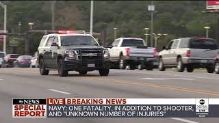 One killed in shooting at Naval Air Base in Pensacola, Florida; shooter also dead