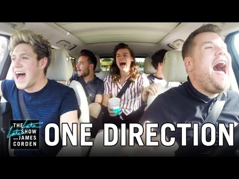 el karaoke de one direction en un auto