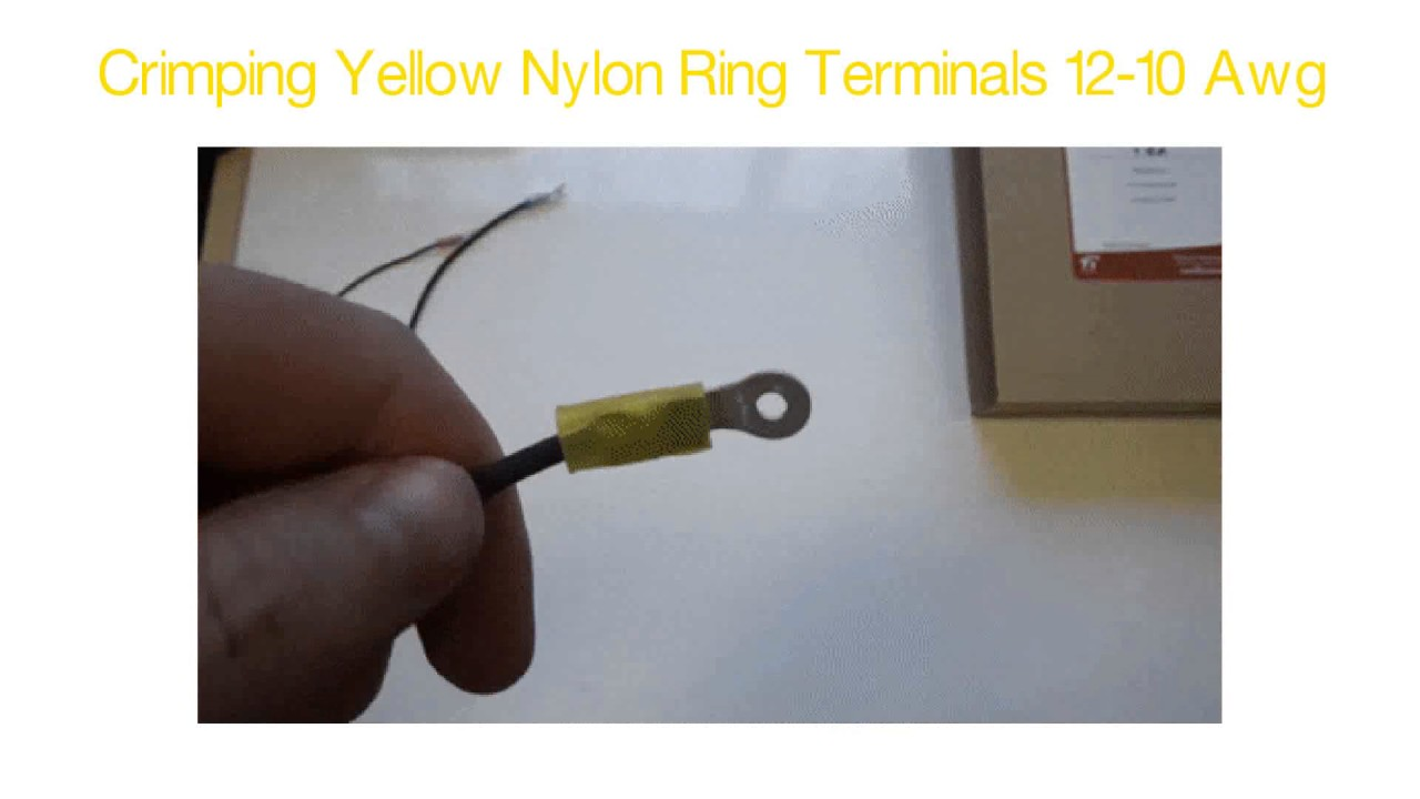 Crimp Ring Terminals - Nylon Yellow 12-10 Awg - YouTube