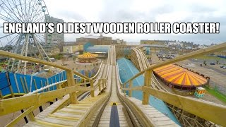 Scenic Railway Wooden Roller Coaster POV UKs Oldest Coaster Dreamland Margate 2015