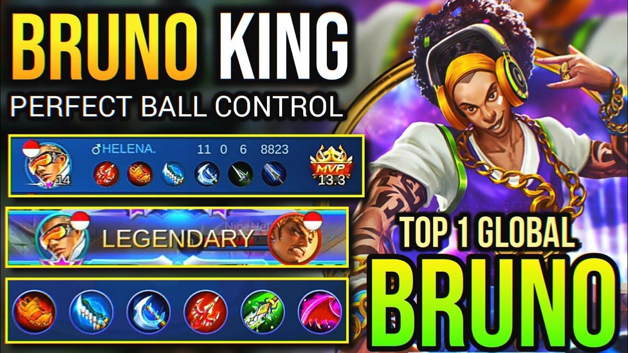 KING OF BRUNO IS BACK! BRUNO BEST BUILD 2020   Top 1 Global Bruno - Mobile Legends