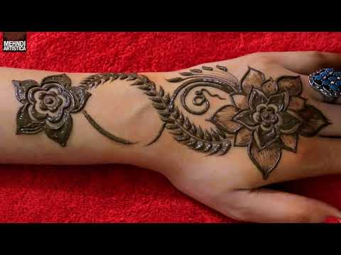 Easy Fine Art Gulf Mehndi Design For Hands | Beautiful Hena Mehendi Tricks Demo