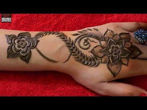 Easy Fine Art Gulf Mehndi Design For Hands | Beautiful Hena Mehendi Tricks Demo