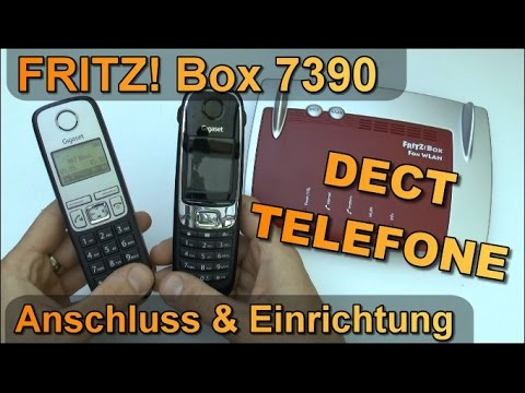 fritz box 7390 einrichtung eines dect schnurlos telefons z b gigaset youtube. Black Bedroom Furniture Sets. Home Design Ideas