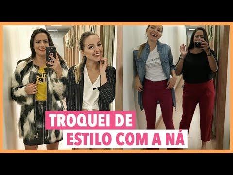 PROVANDO LOOKS EM FAST FASHION: TROQUEI DE ESTILO COM A NÁ!