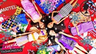 Kalendarz adwentowy BARBIE FASHIONISTAS  Ubranka akcesoria Ubieranki lalek Openbox Mattel