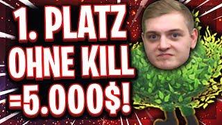 🌳🥇😳5.000$ FÜR DIE PERFEKTE BUSH RUNDE?! | 0 Kills Platz 1 mit einem Versuch?!