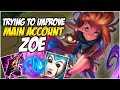 TRYING TO IMPROVE ON ZOE - Climb to Master S8 | League of Legends