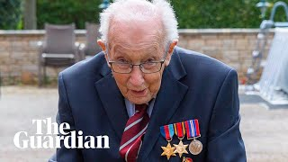 99-year-old war veteran raises millions for NHS by walking lengths of garden