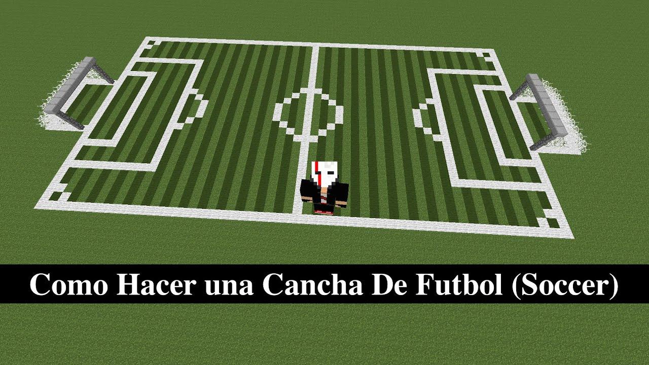 Como Hacer una Cancha Futbol Soccer  YouTube