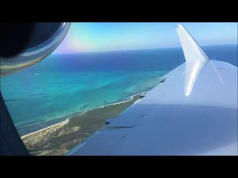 Gulfstream IV-SP Wing View Landing Turks and Caicos Providenciales MBPV