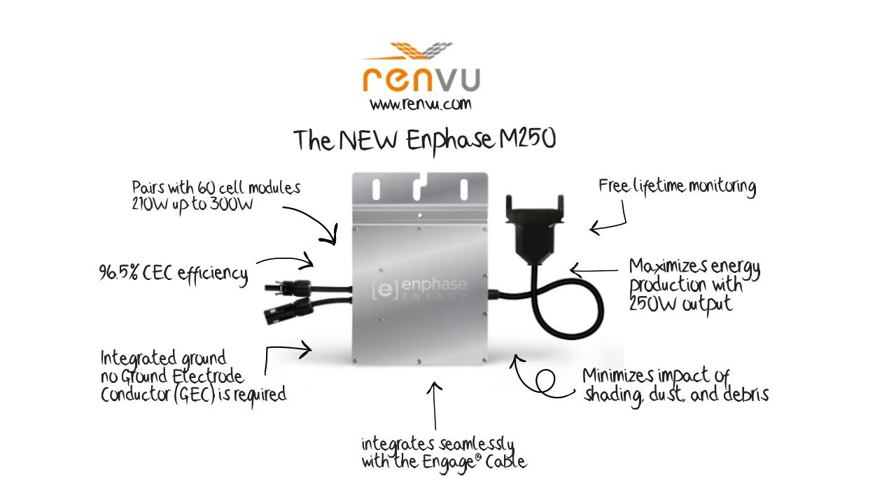 hight resolution of the new enphase m250 micro inverter features and how to install guide renvu com youtube