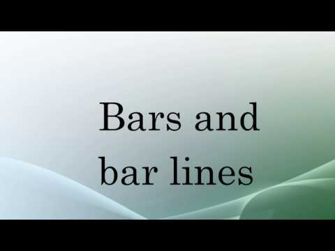 Bars and bar lines