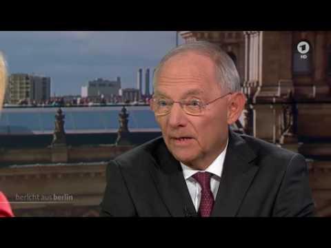 Finanzminister Wolfgang Schäuble im Interview mit Tina Hassel, ARD Bericht aus Berlin