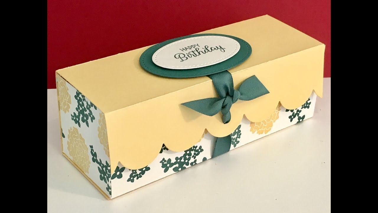 Large Elegant Gift Box with Beautiful Bouquet - Video Tutorial ...